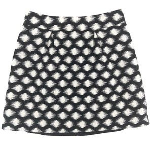 Banana Republic Lined Polka Dot Mini Skirt Sz 2